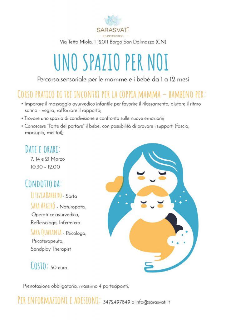 UNO SPAZIO PER NOI – percorso sensoriale per le mamme e i bebè da 1 a 12 mesi